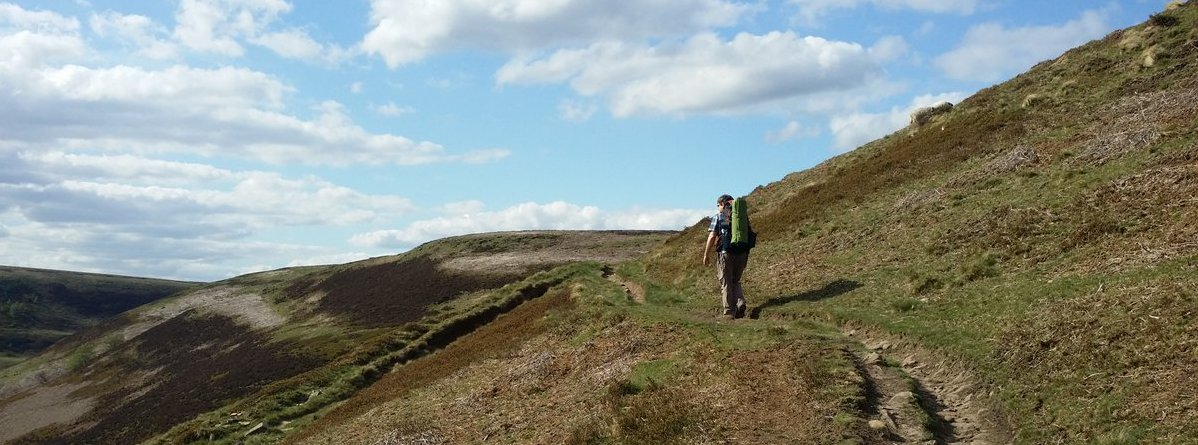 Climbing the bridleway up Sandy Lee