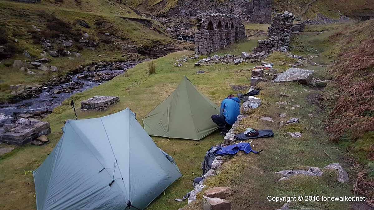Camped beside Gunnerside Beck in the Yorkshire Dales