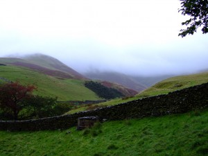 An ascent into the clouds in the Howgills