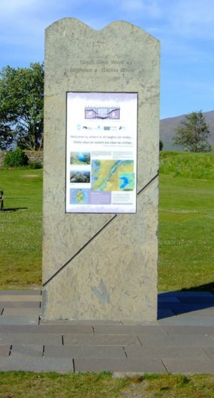 The plinth at the start of the Great Glen Way