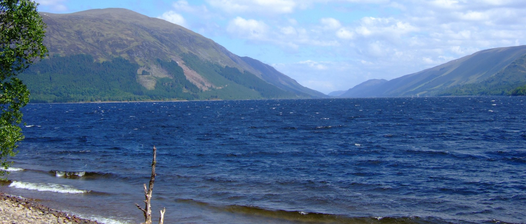 The view down Loch Lochy towards Laggan