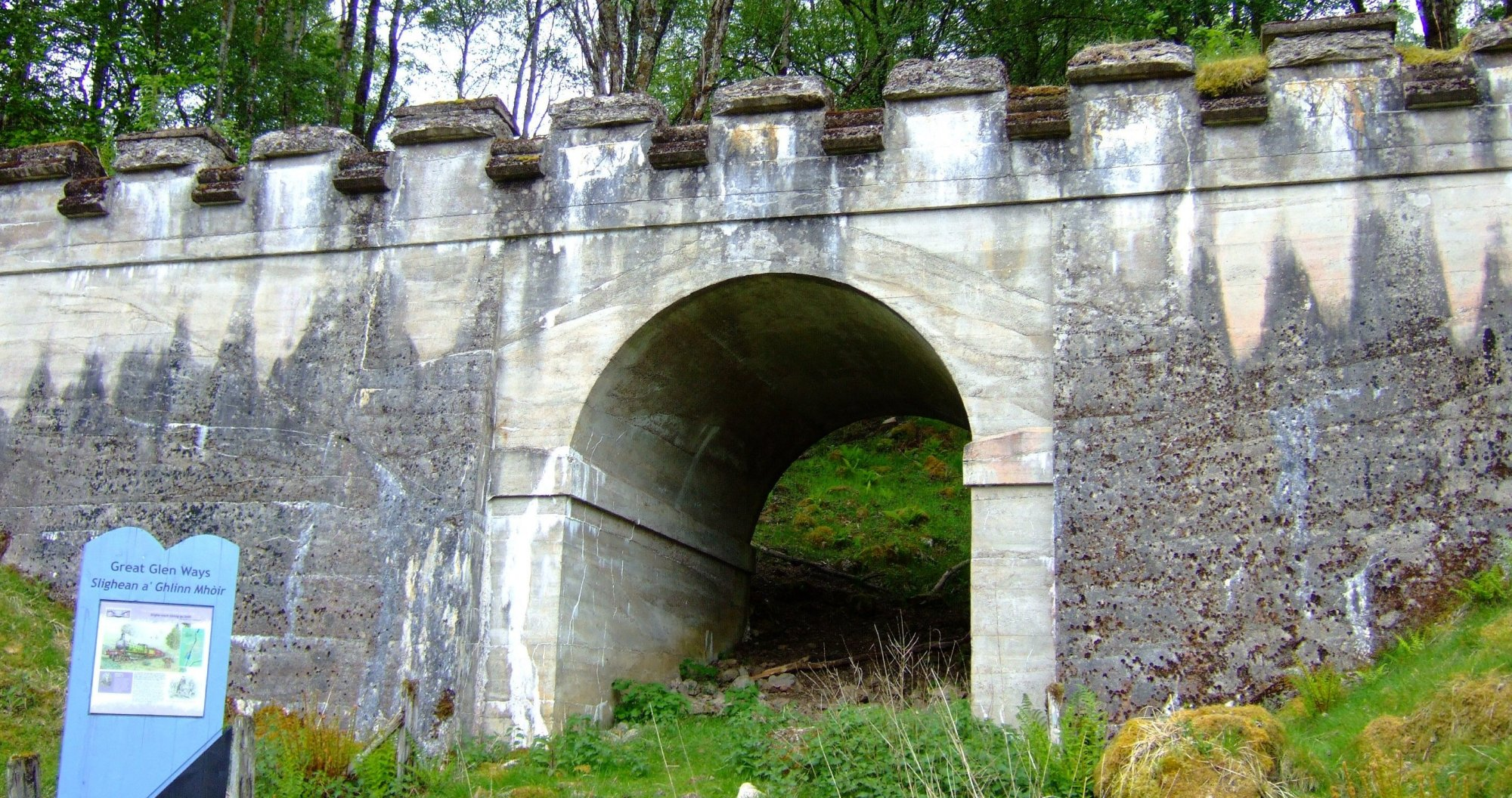 Old railway bridge beside Loch Oich