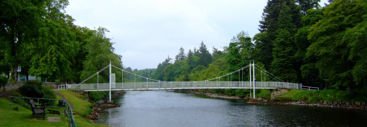 Footbridge over the Caledonian Canal in Inverness