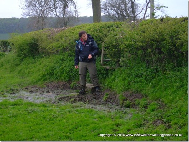 Tex Gore negotiates the mud outside Marske - unfortunately my route doesn't manage to avoid this spot!