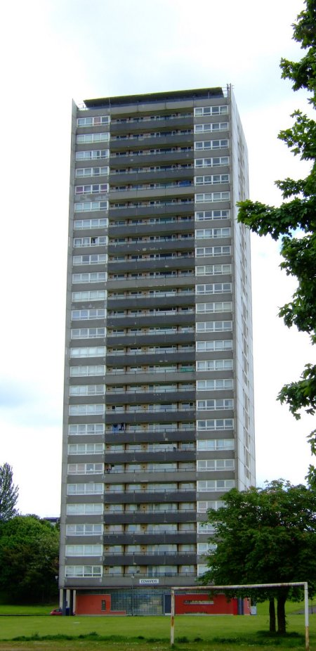 I shudder to think who Mr. Edwards upset, or what he did to deserve having his name associated with this building. The three other identical tower blocks are also named after poor unfortunates