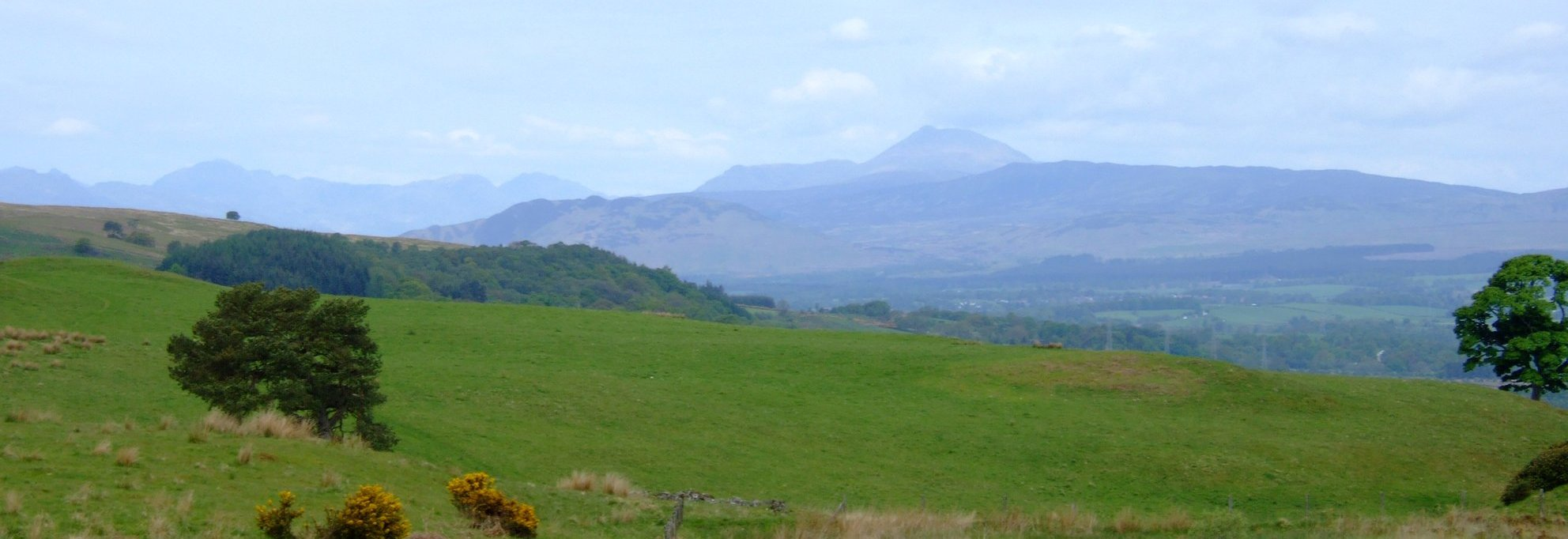 Long views towards Ben Lomond