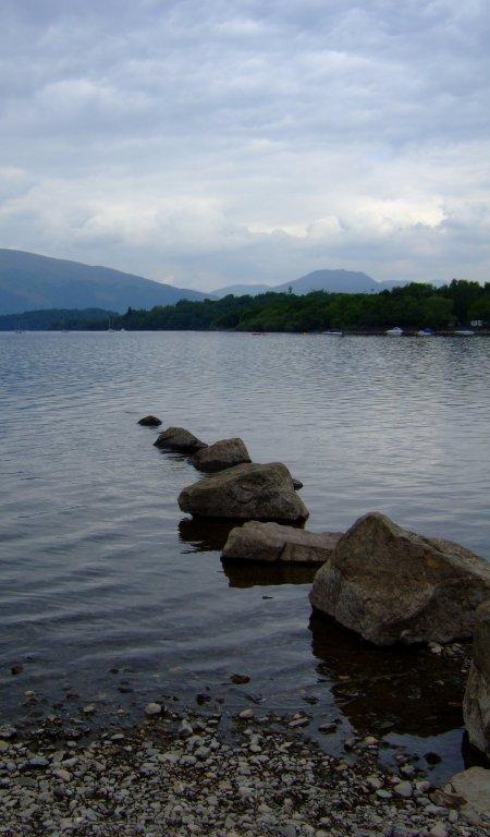 The view across Loch Lomond