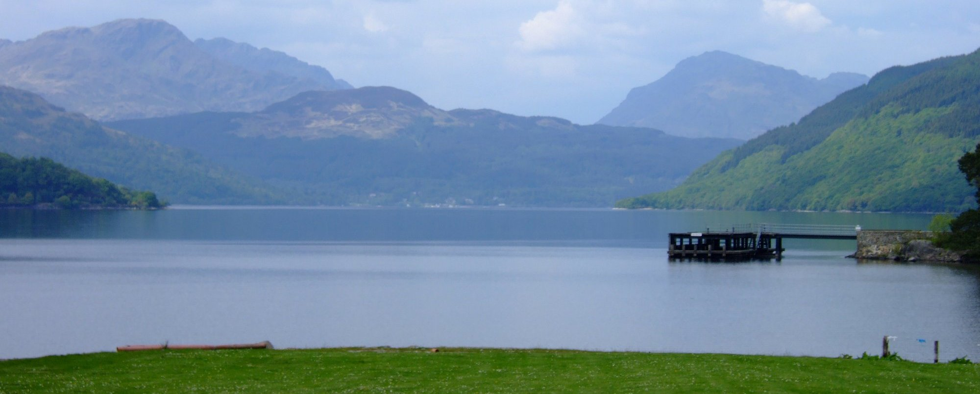 The view from the beer garden at the back of the Rowardennan Hotel