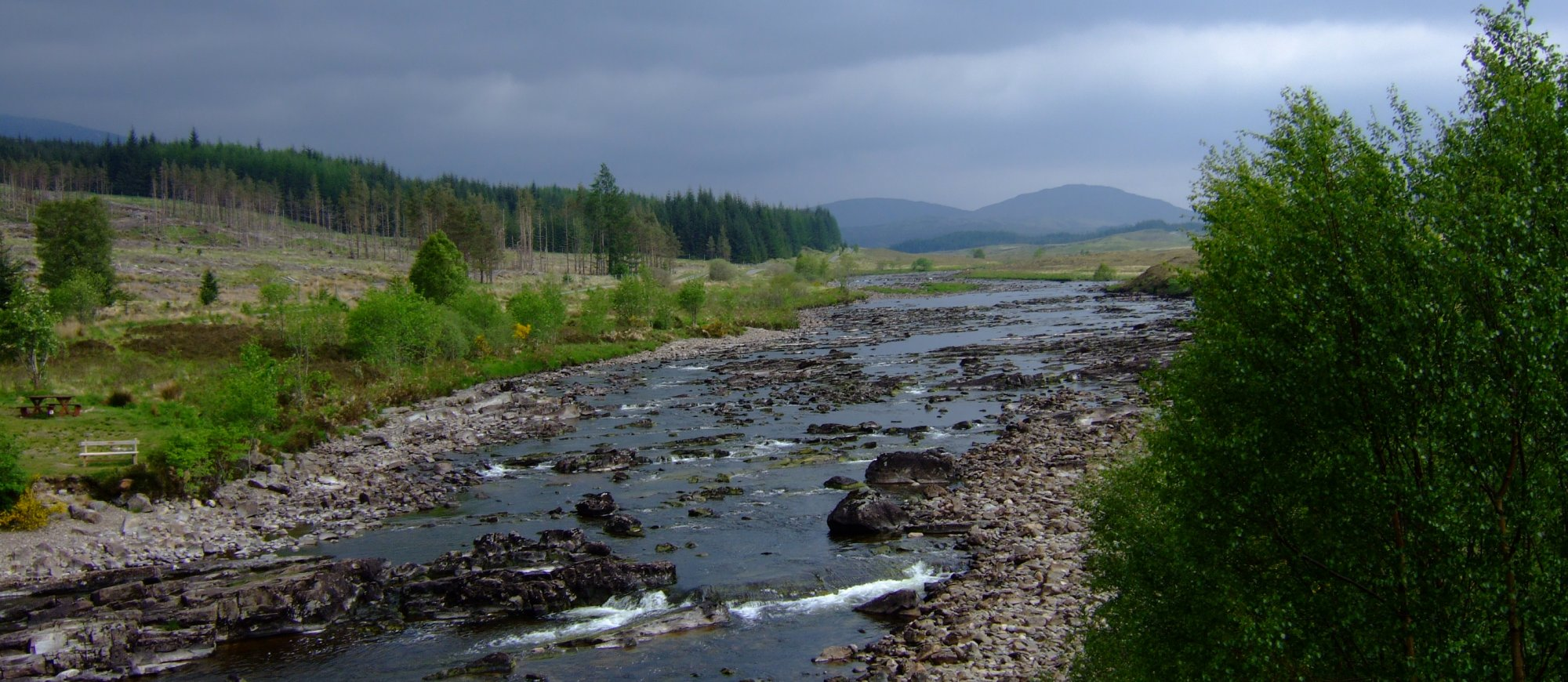Looking north from the parapet of the Bridge of Orchy