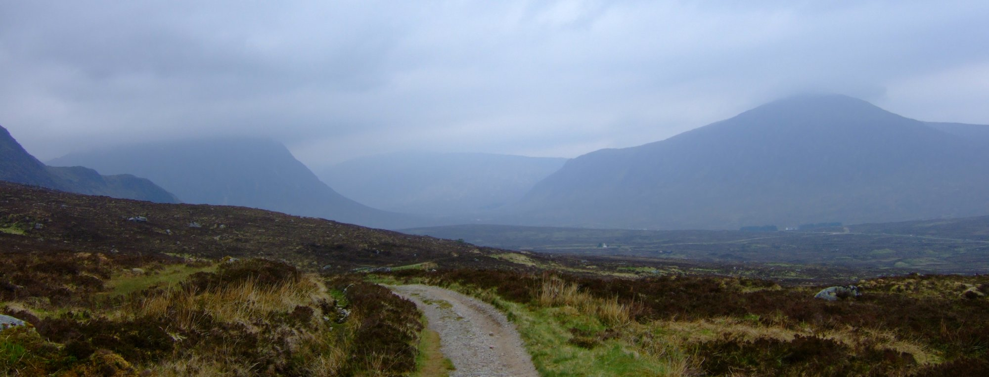 First view of Glencoe and Buachaille Etive Mor