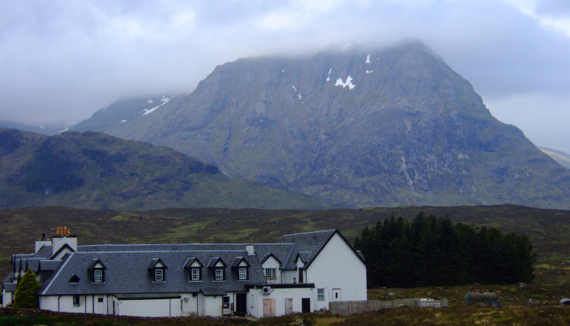 The Kingshouse Hotel with Stob a' Ghlais Choire behind