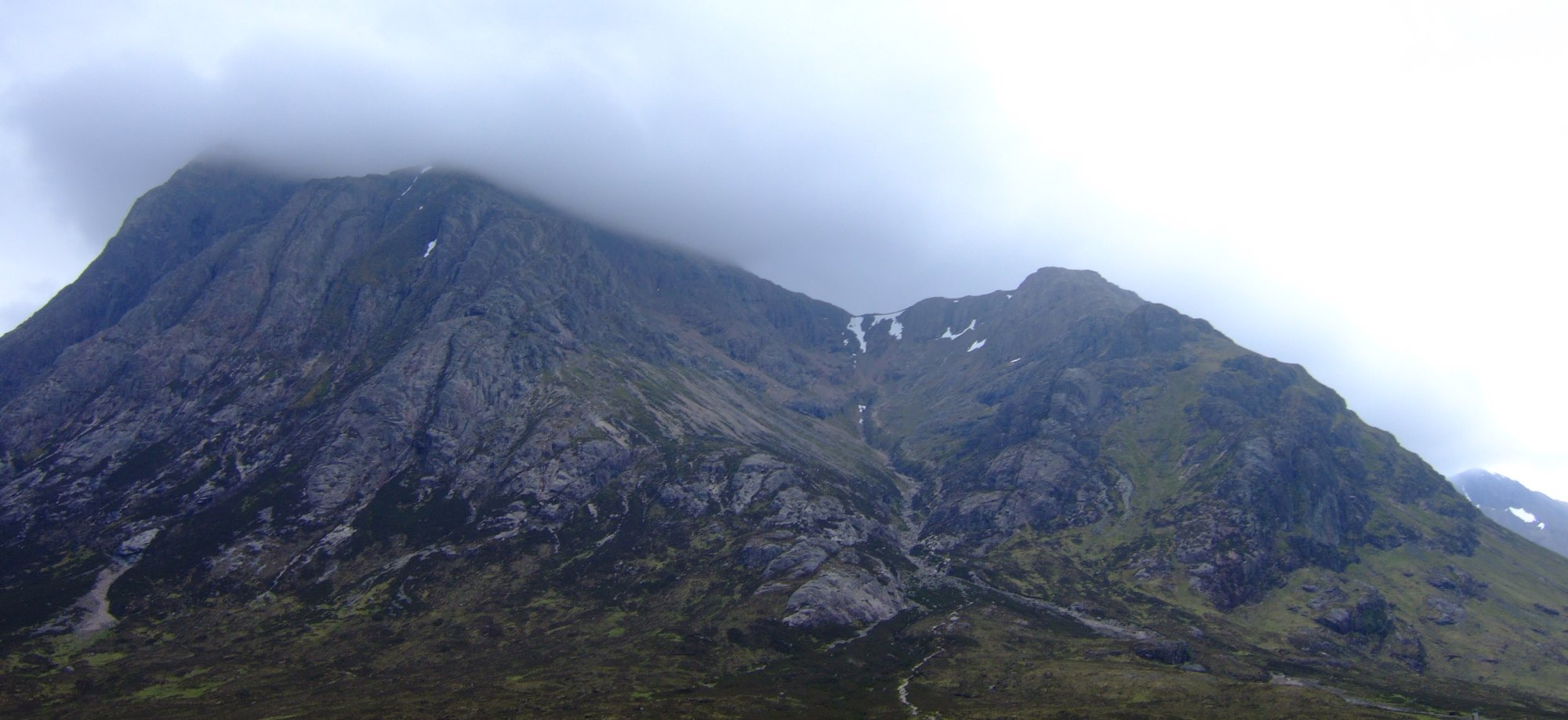 The footpath up through Coire na Tulaich, just about visible running from bottom right of shot to top left
