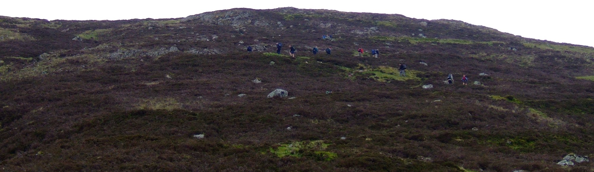 Climbing the Devil's Staircase - about 16 people ahead of me