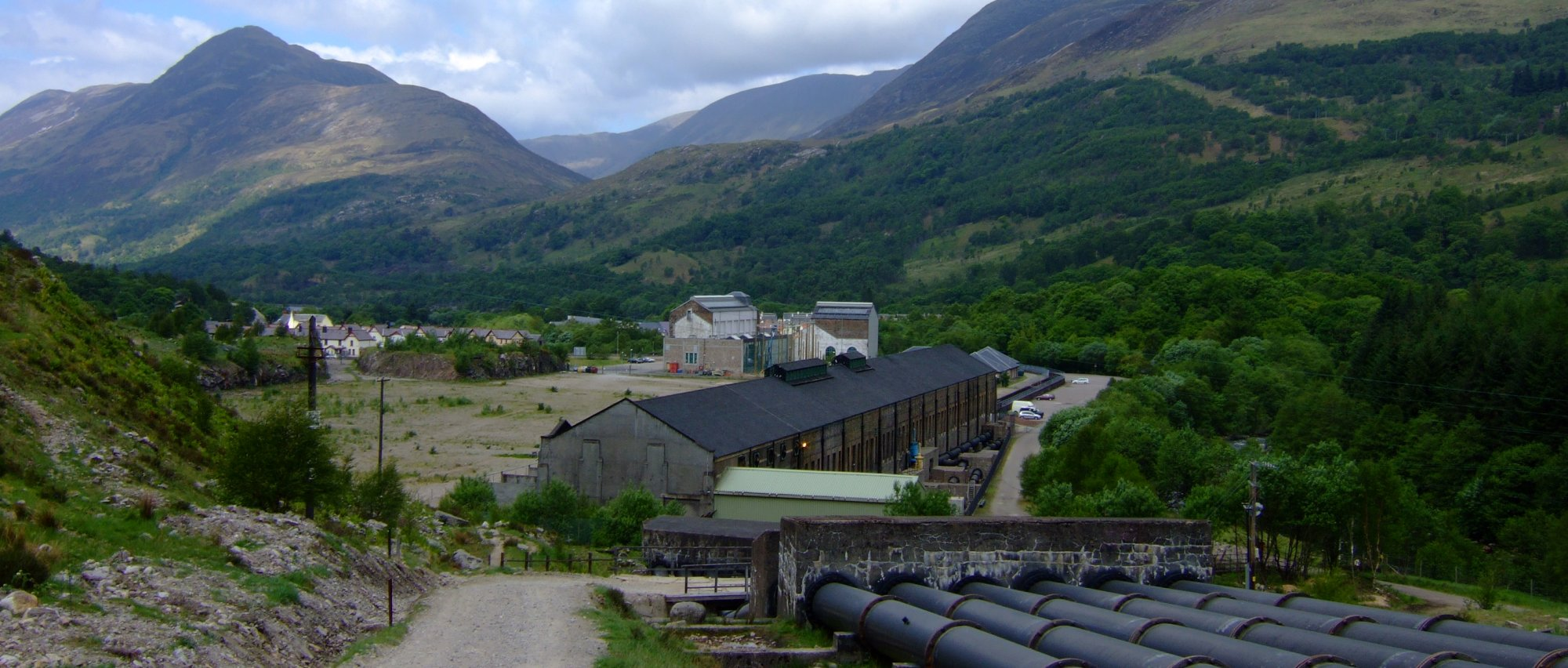 The industrial outskirts of Kinlochleven - not a pretty sight!