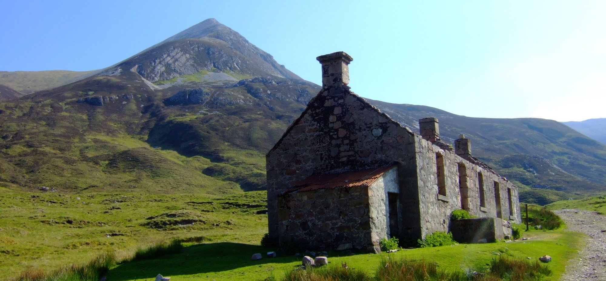 The ruined farmhouse at Tigh-na-sleubhaich