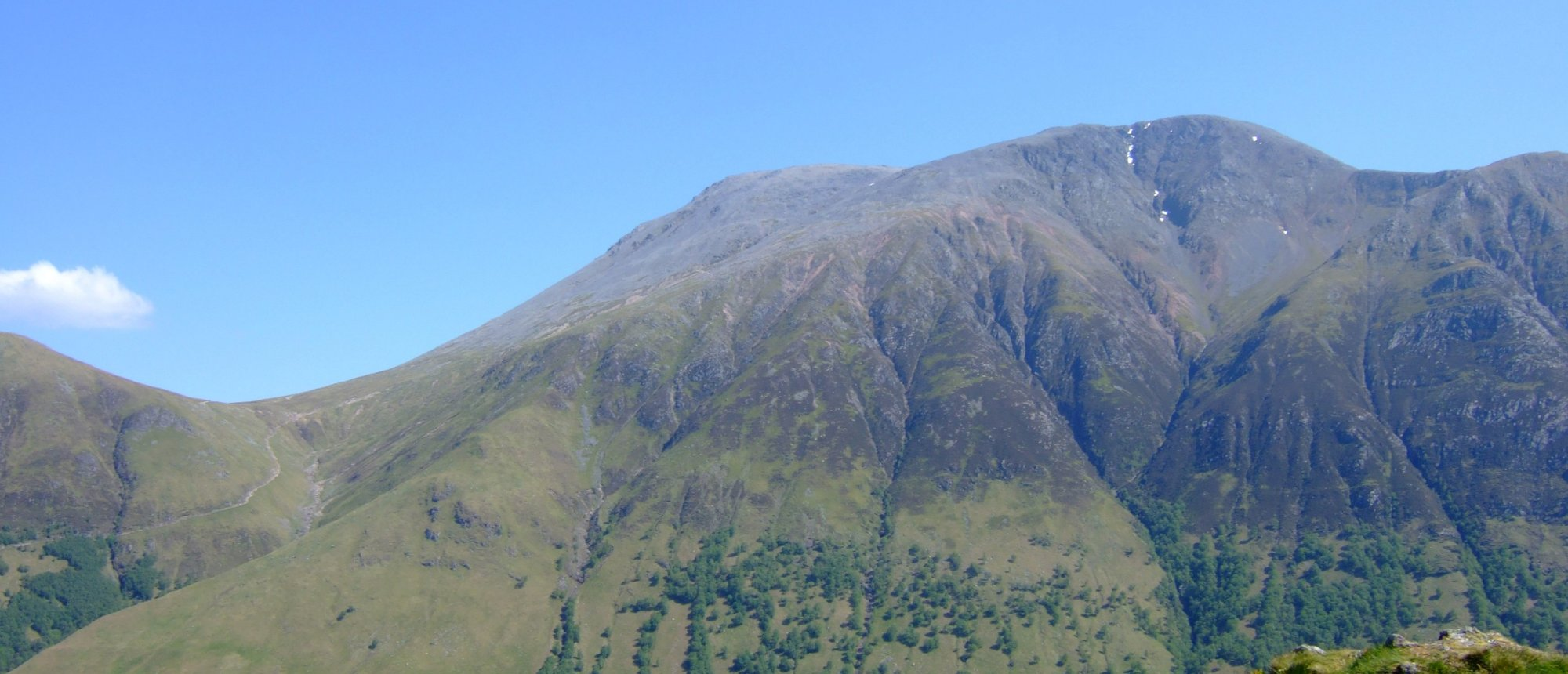 The view of Ben Nevis from Dun Raiding
