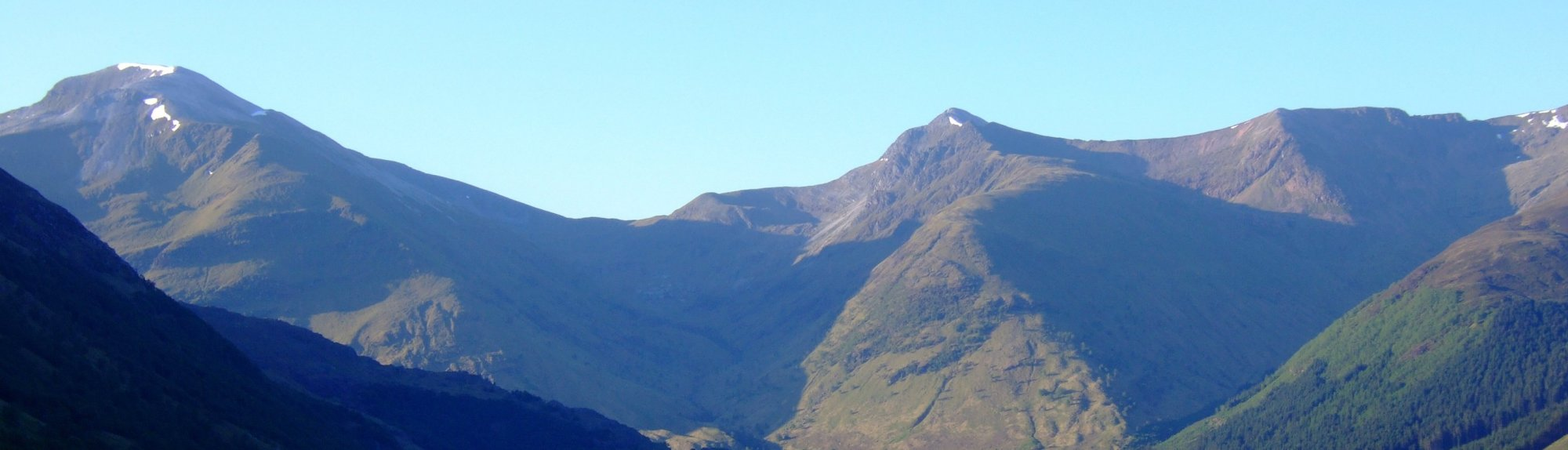 The view from the path, south to the Mamores range