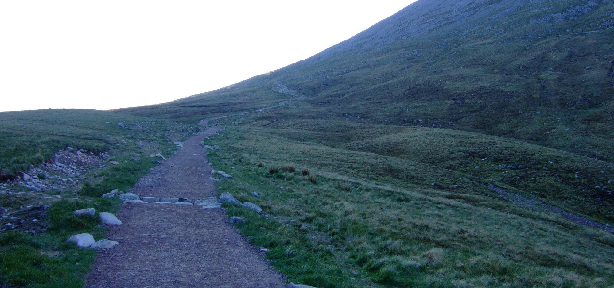 The path is shaded for most of the first half of the climb