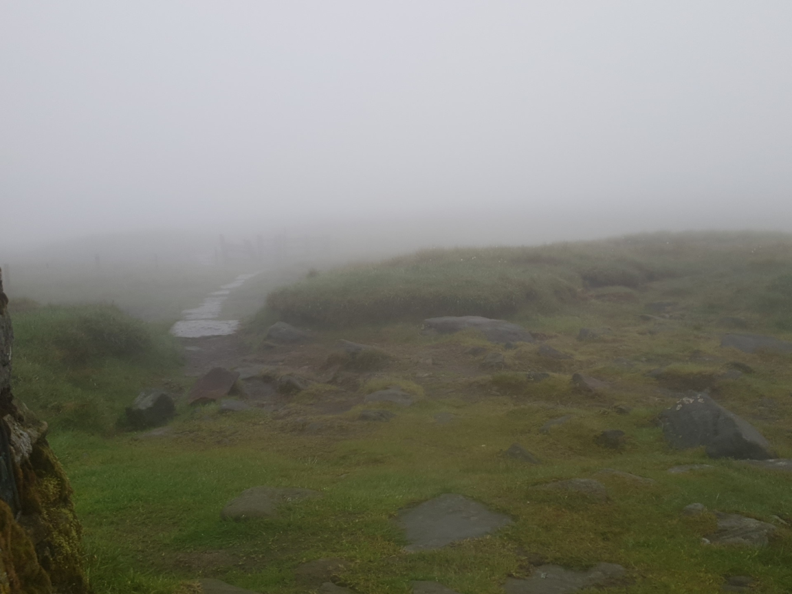 View, or lack of, from Great Shunner Fell summit