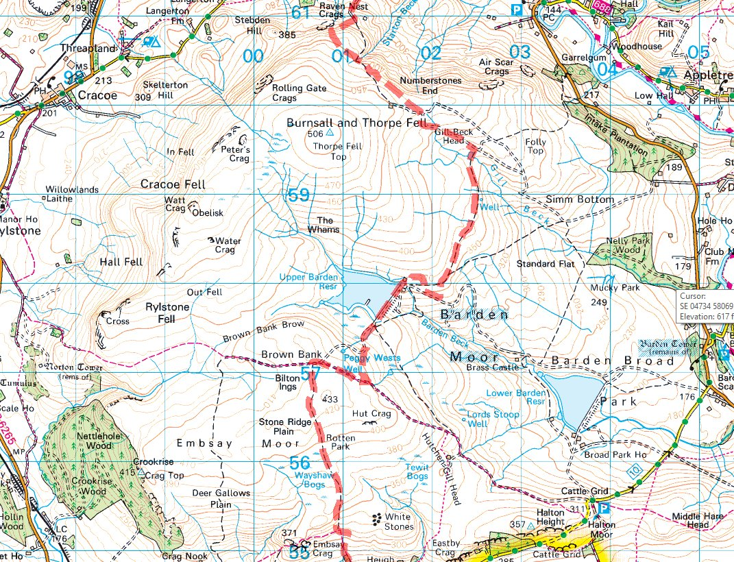 Path across Bardon Moor