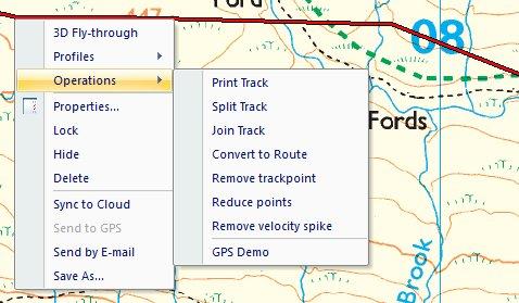 Track right click menu