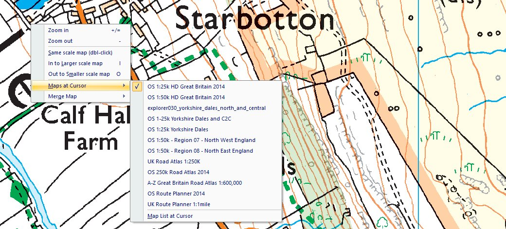maps at cursor menu