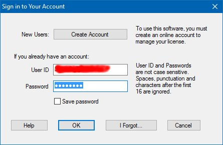 license management login dialog