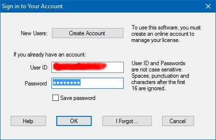 license management login dialog