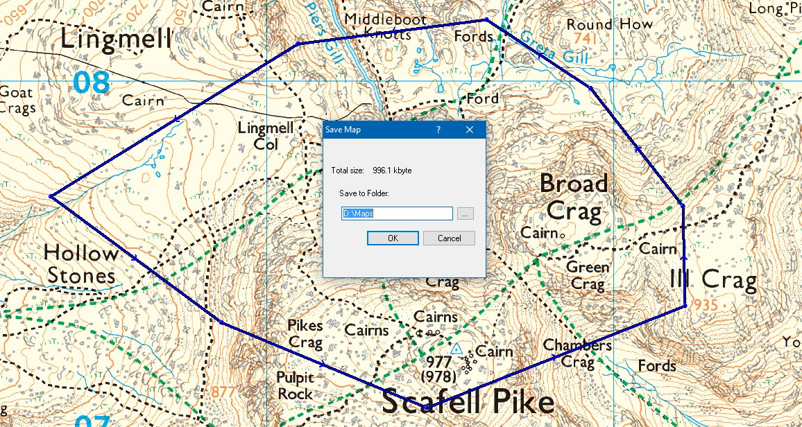 Cutting out a section of map, for export to a mobile device