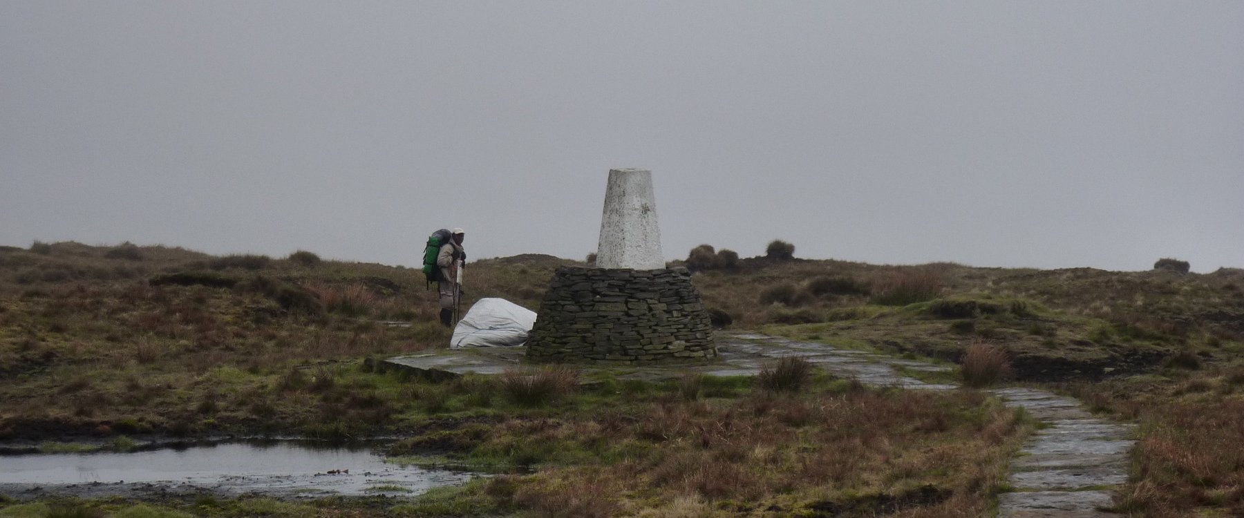 Trig point on Black Hill