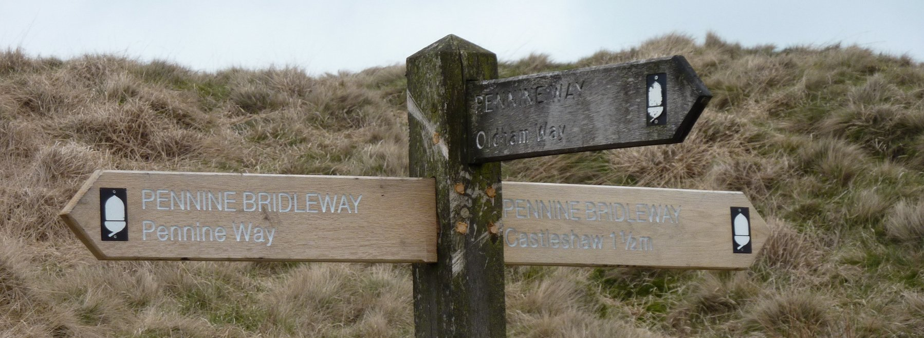 Brand new 'Pennine Bridleway' fingers on this old Pennine Way signpost