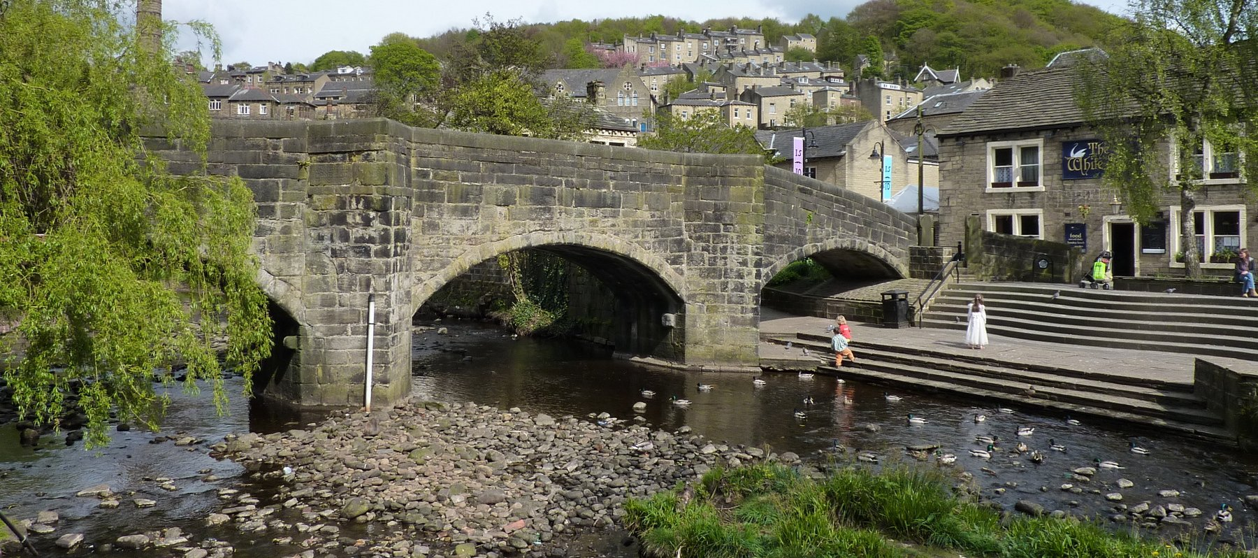 The bridge in Hebden Bridge