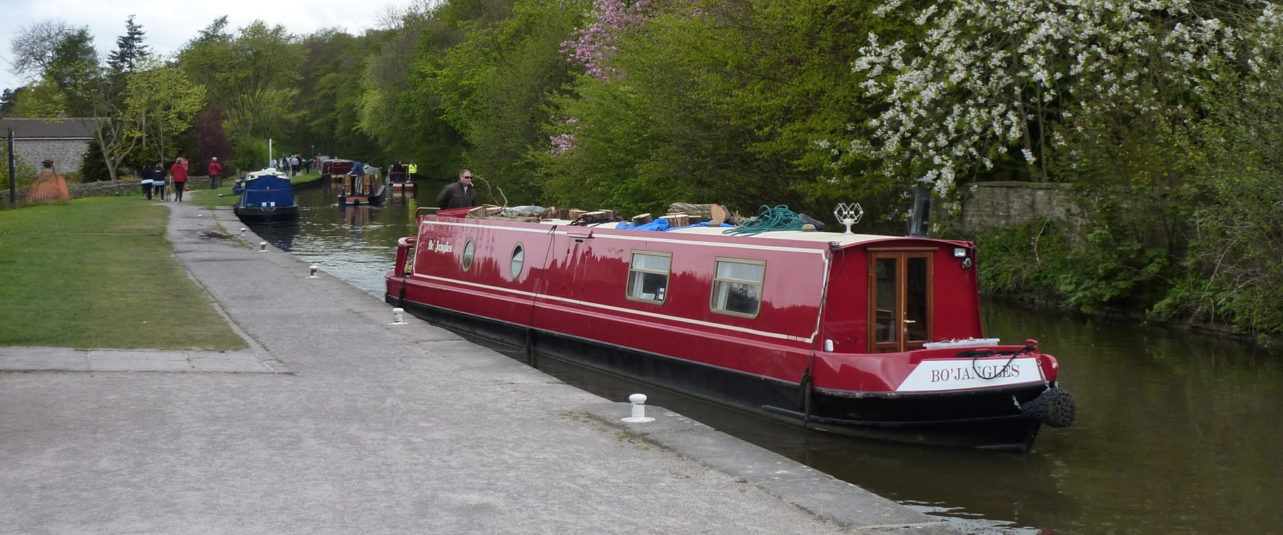 Canal boats outside Gargrave
