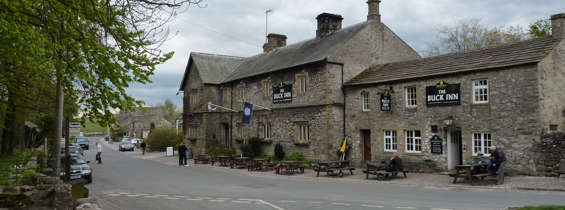Malham village and the Buck Inn