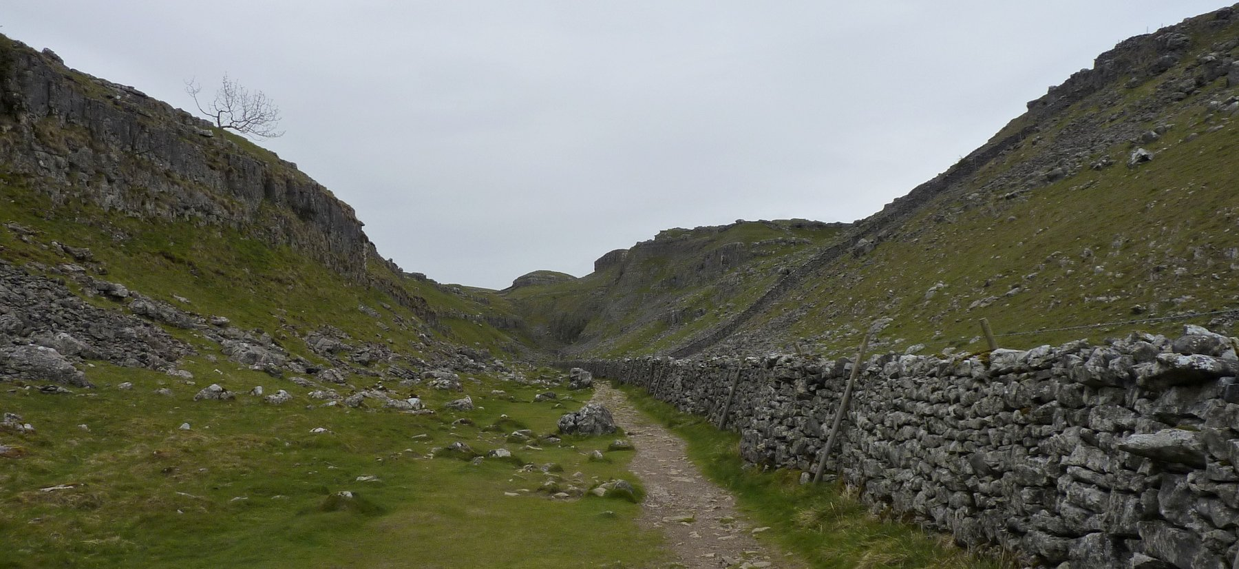 Walking up the dry valley of Watlowes
