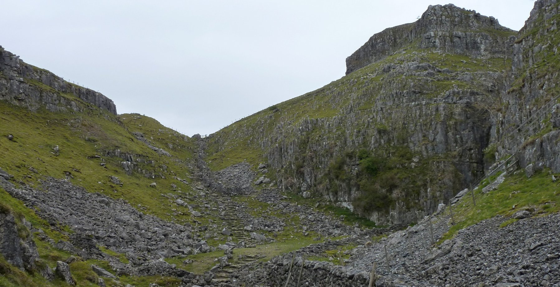 Leaving Watlowes on another steep flight of steps