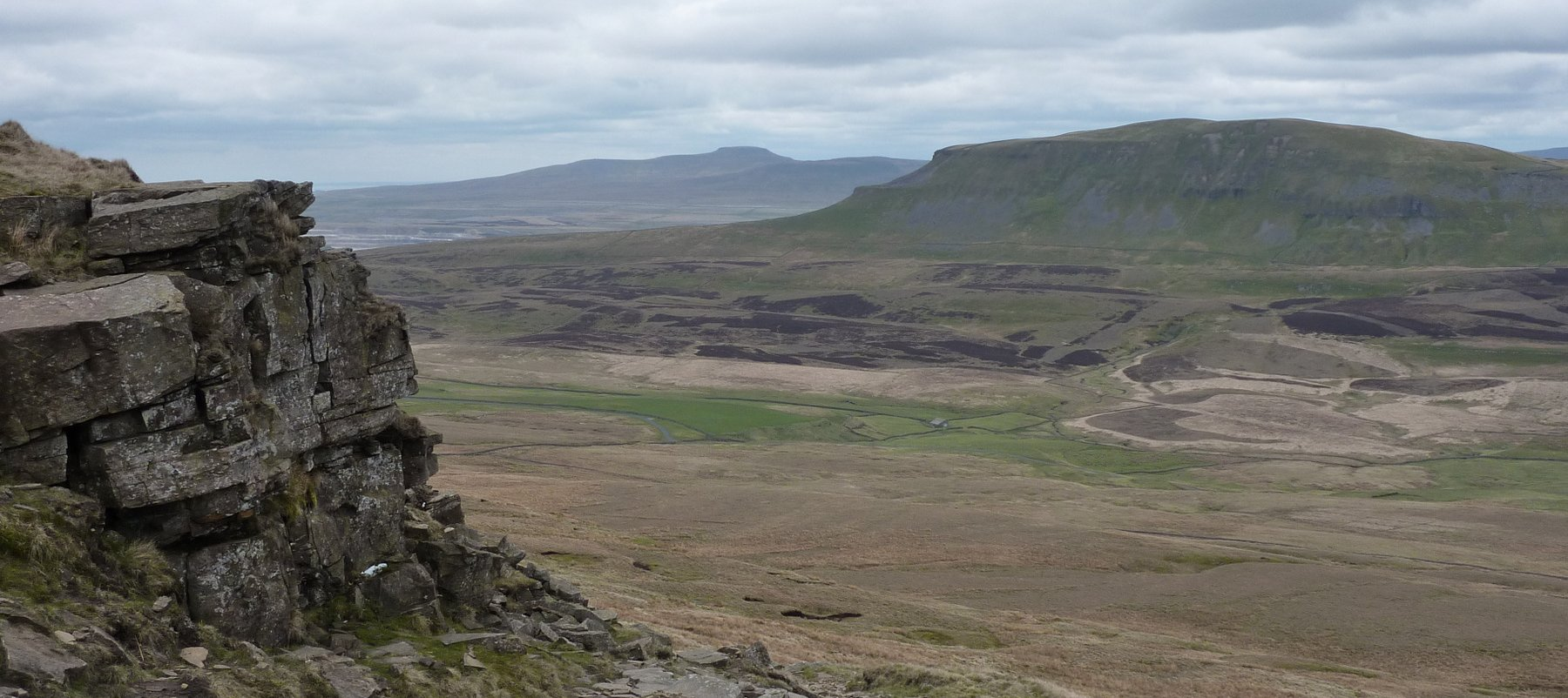 Looking across to Pen-y-ghent from the descent off Fountains Fell