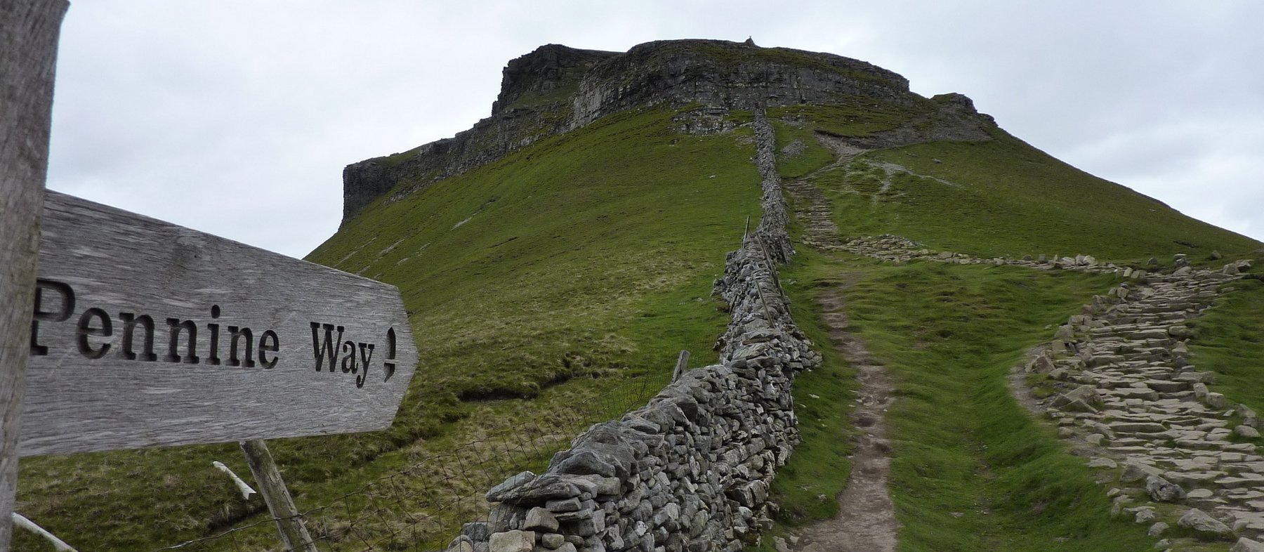 The ascent of Pen-y-ghent is steep, but short