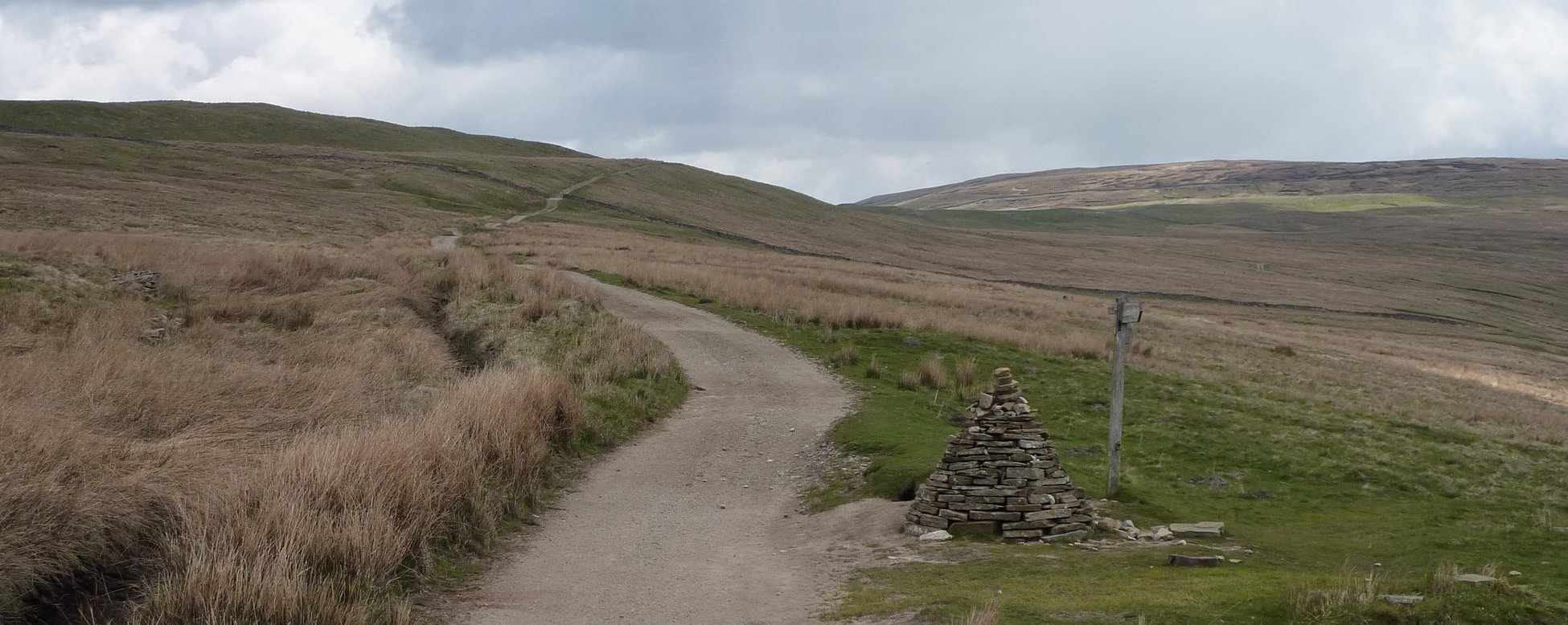 The Dales Way junction cairn