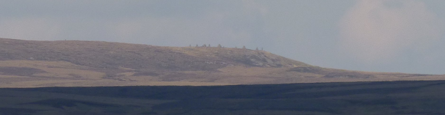 Nine Standards Rigg, just about visible from the path to Tan Hill