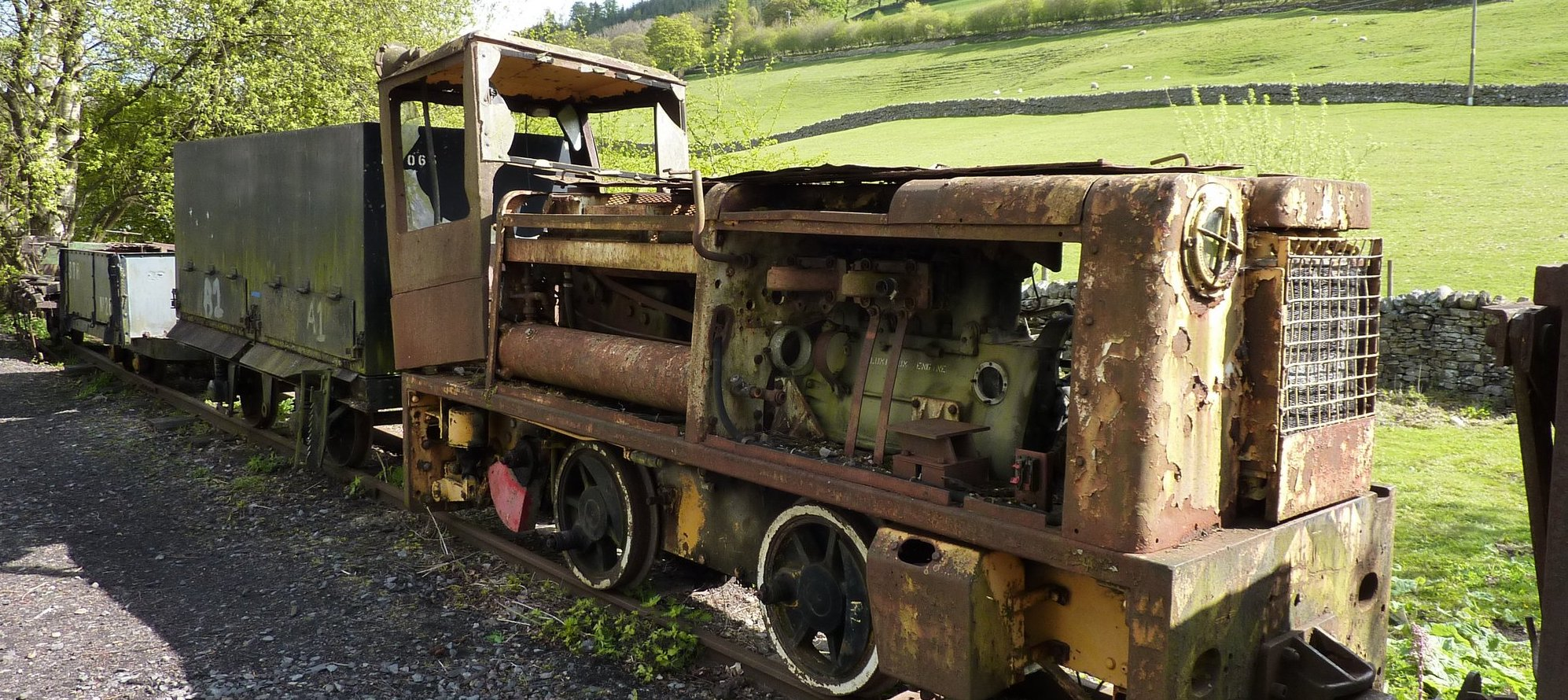 Rusting loco on the South Tyne Trail