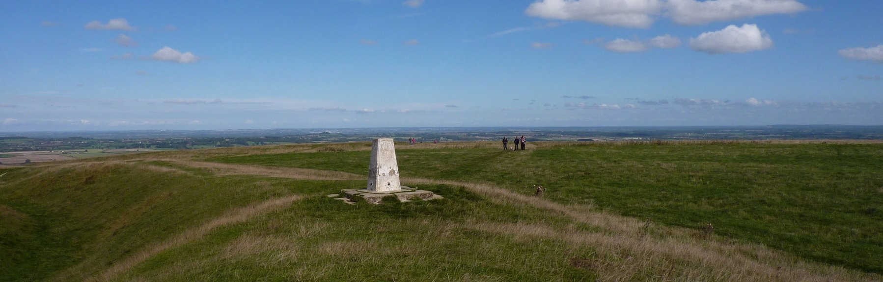 White Horse trig point on the Ridgeway