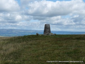 The trig point on Green Bell