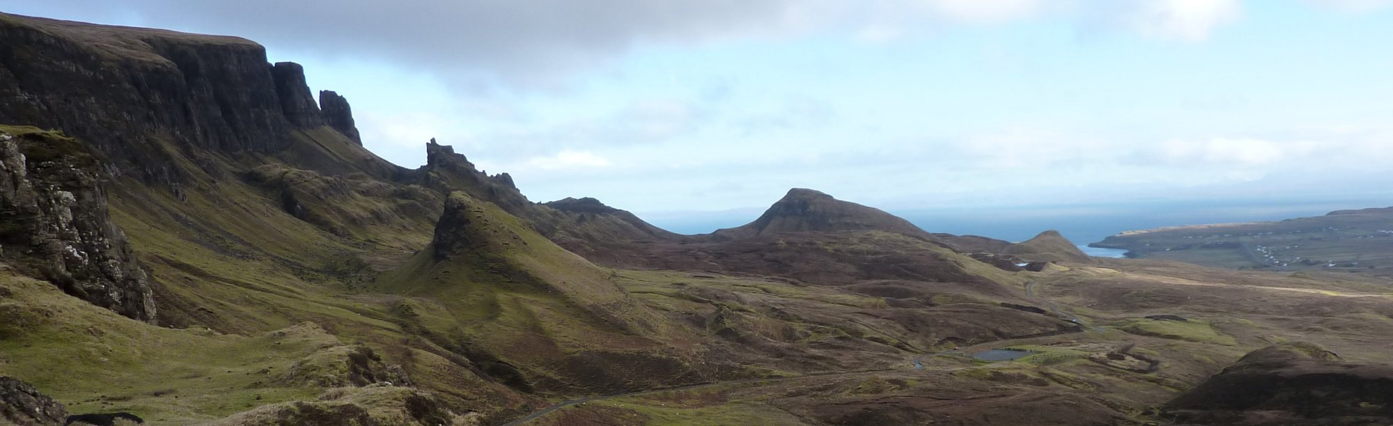 The Quiraing forms part of the famous Trotternish Ridge