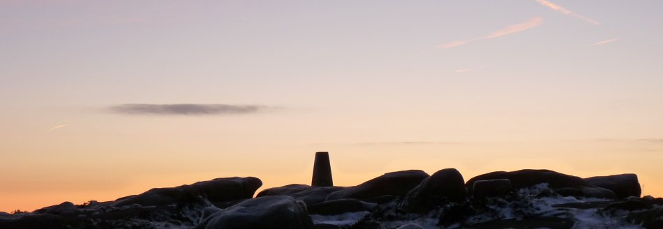 Trig point on Stanage Edge