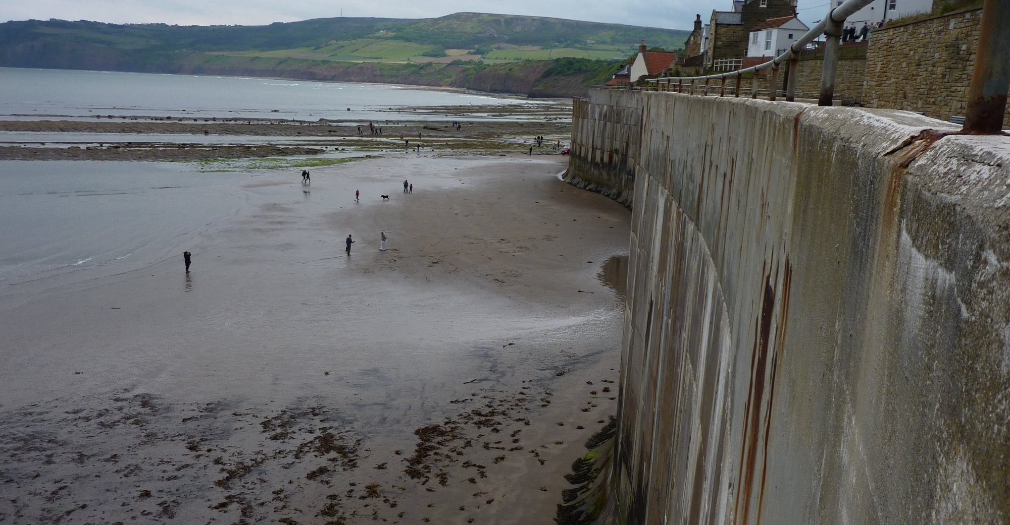 Sea wall in Robin Hood's Bay
