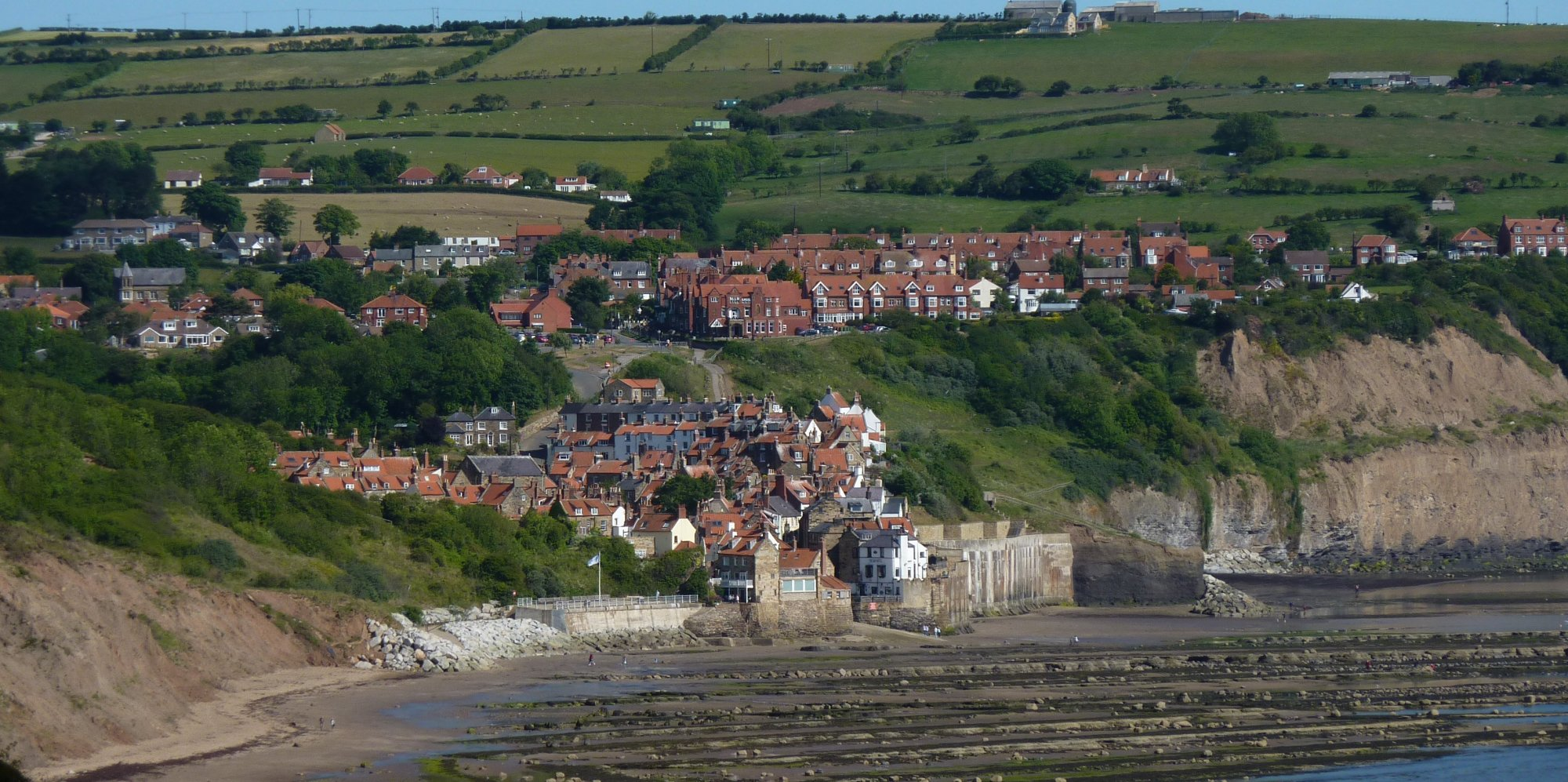 Final look back to Robin Hood's Bay