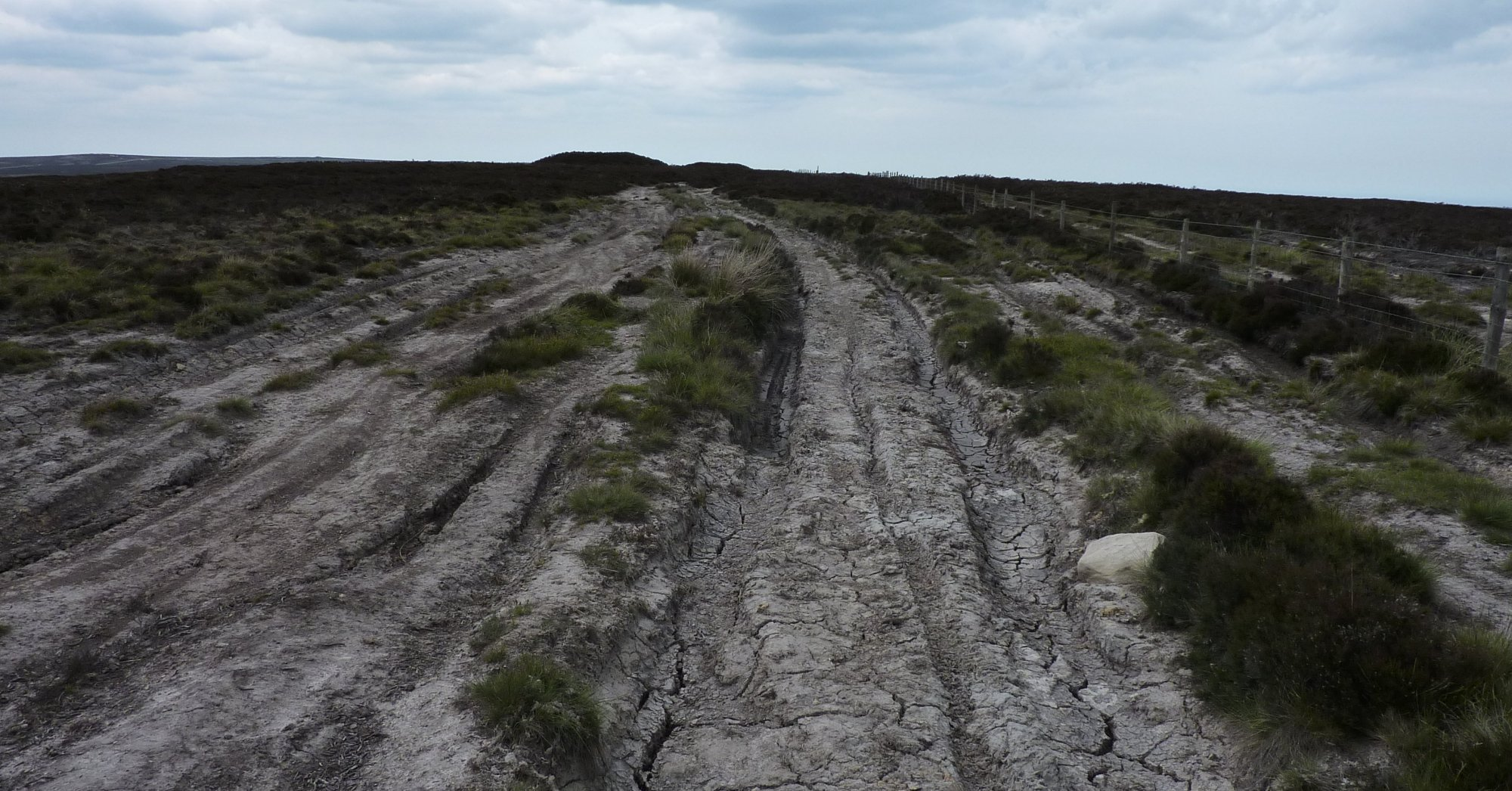 Wide eroded track on Foster Howes Rigg