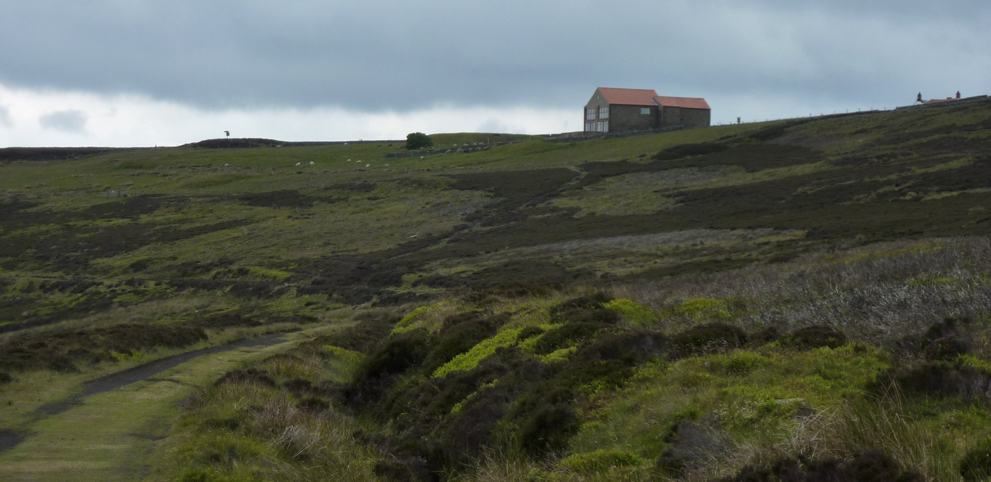 The Lion Inn can be seen from miles away
