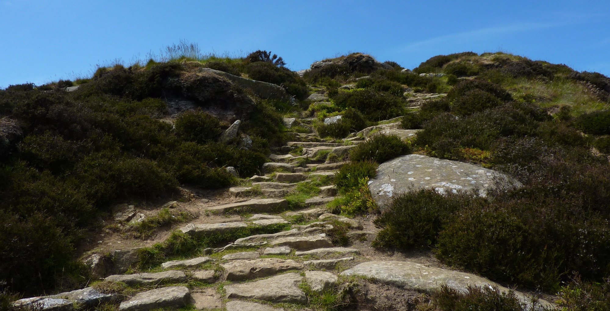 The steep path up to Cringle Moor